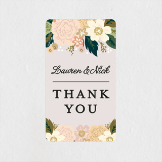 Classic Floral Wedding Favor Stickers