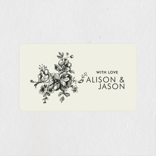Elegance Illustrated Wedding Favor Stickers