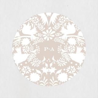 Hacienda Wedding Favor Stickers
