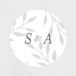 Vineyard Wedding Favor Stickers