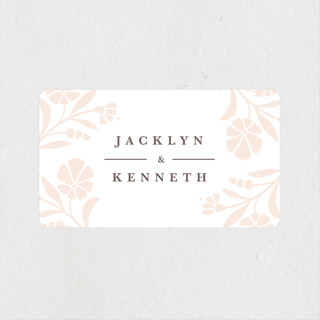 Jasmine Wedding Favor Stickers