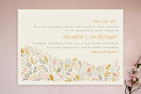 The Grainfield Print-It-Yourself Wedding Invitations