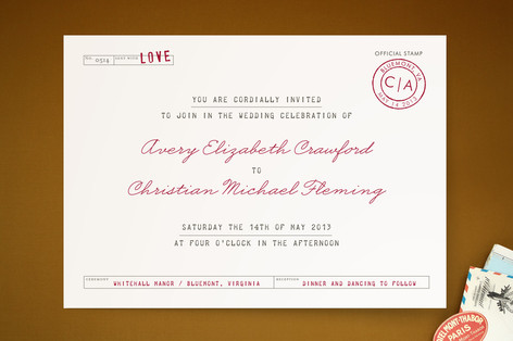 Telegram Print-It-Yourself Wedding Invitations