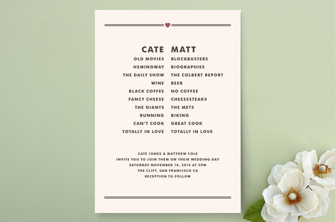 Opposites Attract Print-It-Yourself Wedding Invitations
