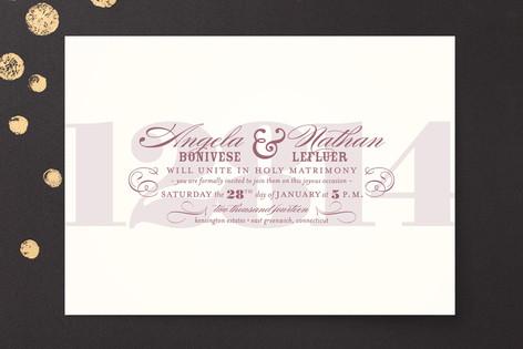 Bold Numerals Print-It-Yourself Wedding Invitations