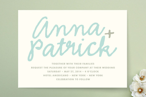 You+Me Print-It-Yourself Wedding Invitations