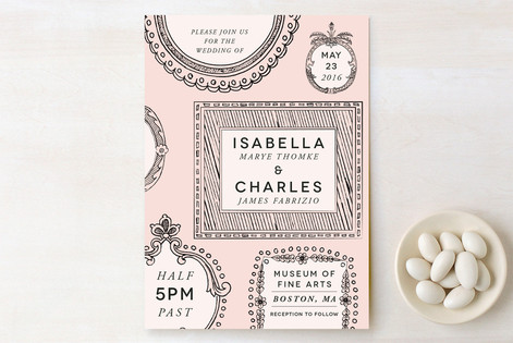 Framed Union Print-It-Yourself Wedding Invitations
