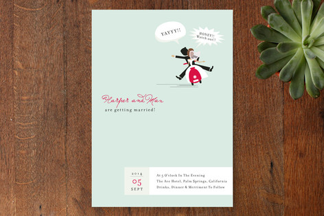 Scooter Print-It-Yourself Wedding Invitations