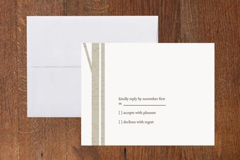 Winter Birch Print-It-Yourself RSVP Cards