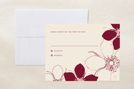 Modern Lotus Print-It-Yourself RSVP Cards