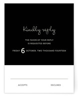 Wedding Type Print-It-Yourself RSVP Cards