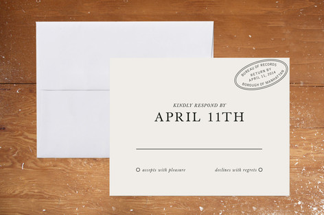 City Hall Print-It-Yourself RSVP Cards