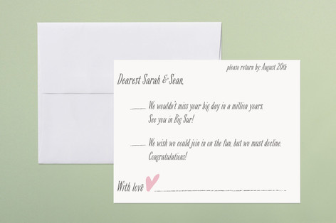 Loved Ones Print-It-Yourself RSVP Cards