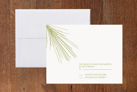 Pine Branch Print-It-Yourself RSVP Cards