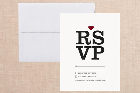 Eye Chart Print-It-Yourself RSVP Cards